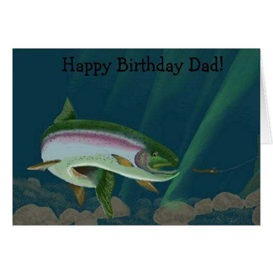 Rainbow Heaven Happy Birthday Dad Card