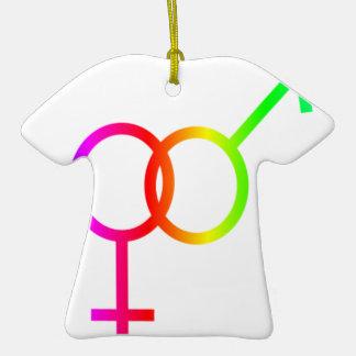 Rainbow Heterosexual Symbol Ceramic T-Shirt Decoration