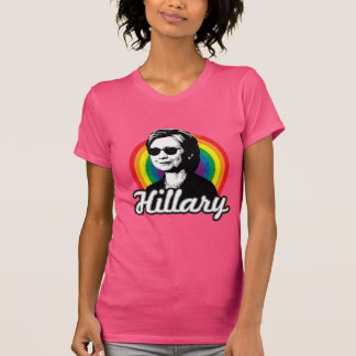 Rainbow Hillary Clinton 2016 - Cool Clinton -  LGB T-Shirt