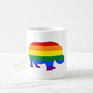 Rainbow Hippopotamus Coffee Mug