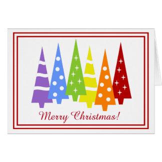 Rainbow Holiday Trees Card