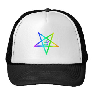 Rainbow Homosexual Female Inverted Pentagram Cap