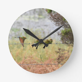 RAINBOW HONEY EATER BIRD QUEENSLAND AUSTRALIA WALL CLOCKS