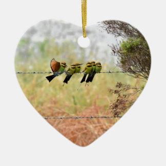 RAINBOW HONEY EATER BIRDS QUEENSLAND AUSTRALIA CERAMIC HEART DECORATION