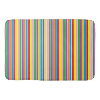 Rainbow Horizontal Stripes Bath Mat