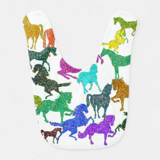 "Rainbow Horses - ""Dotty about Horses!"" Bib"