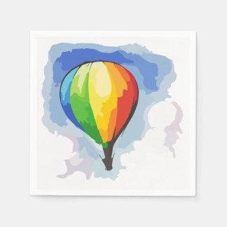 Rainbow Hot Air Balloon Paper Serviettes
