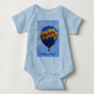 Rainbow Hot Air Ballooning Baby Bodysuit