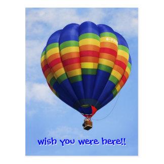 Rainbow Hot Air Ballooning Postcard