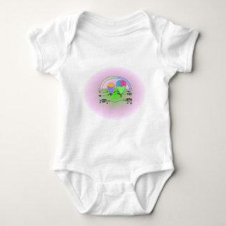 Rainbow Hot Air Balloons Baby Bodysuit