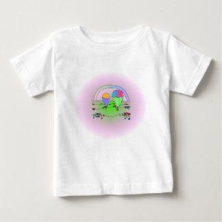 Rainbow Hot Air Balloons Baby T-Shirt