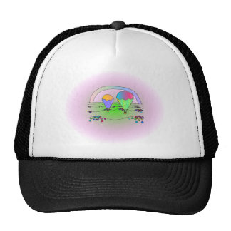 Rainbow Hot Air Balloons Cap
