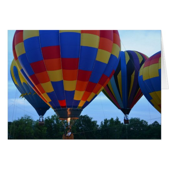 Rainbow Hot Air Balloons Card