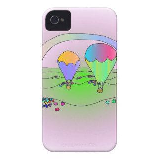 Rainbow Hot Air Balloons iPhone 4 Case-Mate Case
