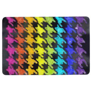 Rainbow Houndstooth Floor Mat