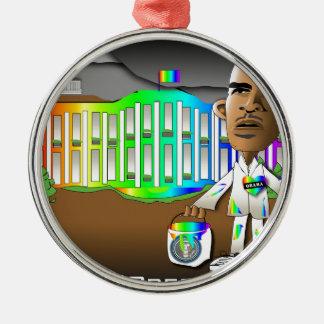 Rainbow House Christmas Ornament