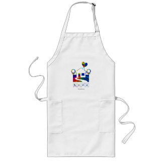 Rainbow House-Gay Love Long Apron