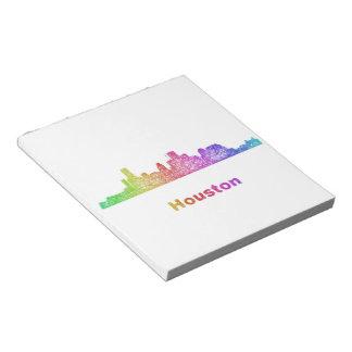 Rainbow Houston skyline Notepad
