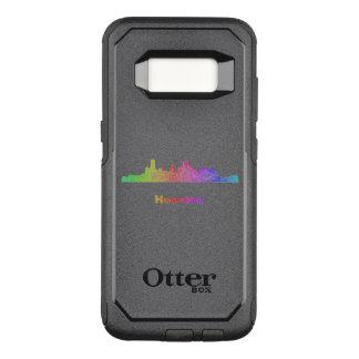 Rainbow Houston skyline OtterBox Commuter Samsung Galaxy S8 Case
