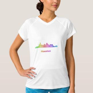 Rainbow Houston skyline T-Shirt