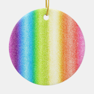 """Rainbow Ices"" Round Ceramic Decoration"