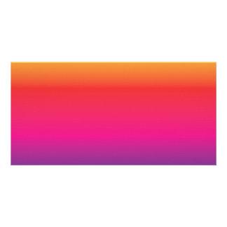 Rainbow Image Template Photo Greeting Card