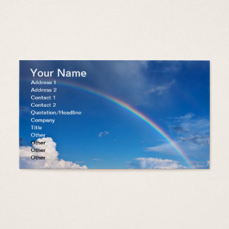 Rainbow in a Blue Sky Business Card