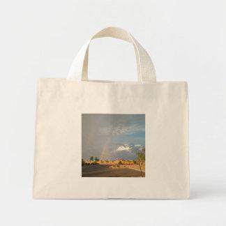 Rainbow in Arizona Mini Tote Bag