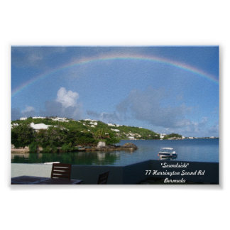 Rainbow in Bermuda Poster