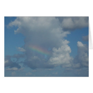Rainbow in clouds card