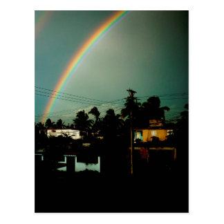 Rainbow in Havana Postcard