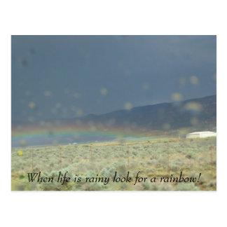 Rainbow in life. postcard