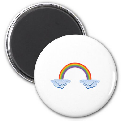 Rainbow in the Clouds Fridge Magnets
