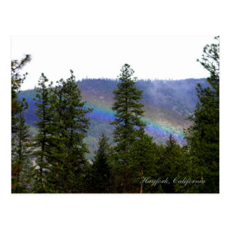 Rainbow in the mountains... postcard