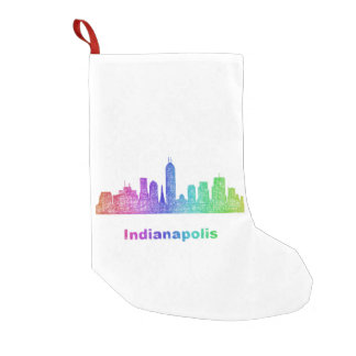 Rainbow Indianapolis skyline