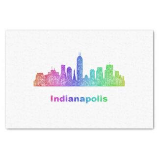 Rainbow Indianapolis skyline Tissue Paper