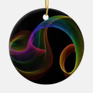 Rainbow Inspiration Round Ceramic Decoration