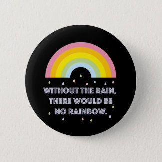 Rainbow Inspirational and Motivational Quote 6 Cm Round Badge