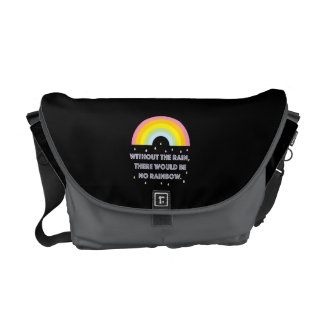 Rainbow Inspirational and Motivational Quote Courier Bags