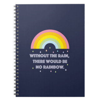 Rainbow Inspirational and Motivational Quote Notebooks