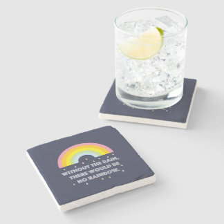 Rainbow Inspirational and Motivational Quote Stone Coaster