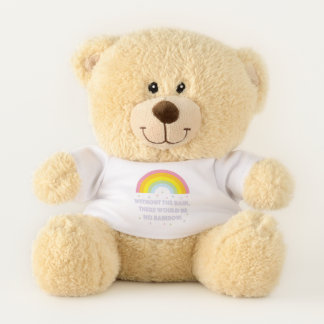 Rainbow Inspirational and Motivational Quote Teddy Bear