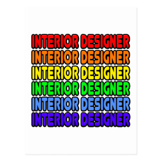 Rainbow Interior Designer Post Card