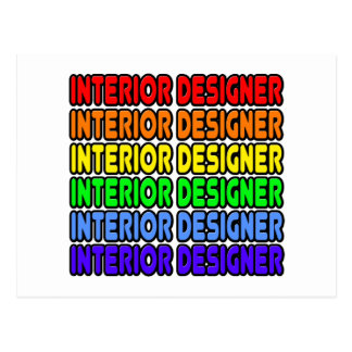 Rainbow Interior Designer Postcard