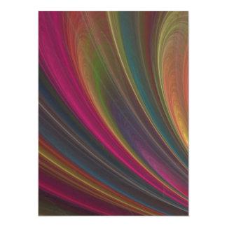 Rainbow 14 Cm X 19 Cm Invitation Card