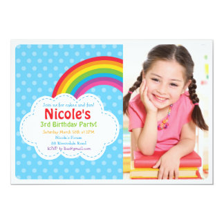 Rainbow Invitation / Rainbow Birthday Invitation