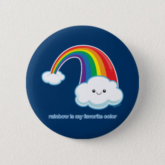 Rainbow is My Favorite Color 6 Cm Round Badge