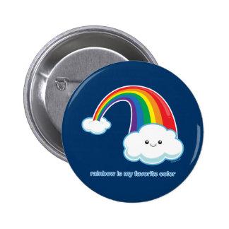 Rainbow is My Favorite Color 6 Cm Round Badge