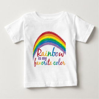 rainbow is my favorite color baby T-Shirt