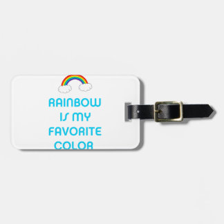 Rainbow is my favorite color luggage tag